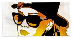 Rihanna Beach Sheet by Svelby Art