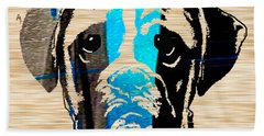 Boxer Beach Towel by Marvin Blaine