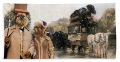 Brussels Griffon - Belgium Griffon Art Canvas Print Beach Sheet by Sandra Sij