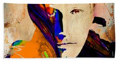 Ben Affleck Collection Beach Sheet by Marvin Blaine