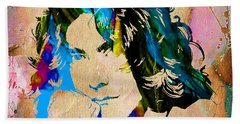 Robert Plant Collection Beach Towel by Marvin Blaine