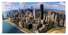Chicago Il Beach Towel by Panoramic Images