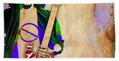 Eddie Van Halen Special Edition Beach Sheet by Marvin Blaine