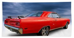 '70 Roadrunner Beach Towel by Douglas Pittman