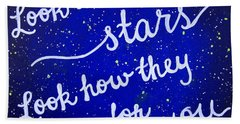 8x10 Look At The Stars Beach Sheet by Michelle Eshleman