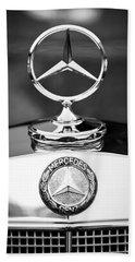 Mercedes-benz Hood Ornament Beach Sheet by Jill Reger