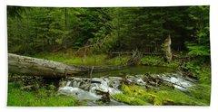 A Beaver Dam Overflowing Beach Towel by Jeff Swan