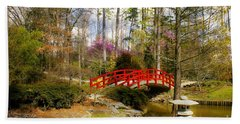 A Bridge To Spring Beach Sheet by Benanne Stiens