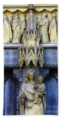 A Crown For Mary And Jesus Beach Towel by James Brunker