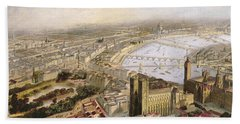 A Panoramic View Of London Beach Towel by English School