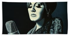 Adele Skyfall Painting Beach Towel by Paul Meijering
