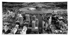 Aerial View Of London 5 Beach Towel by Mark Rogan