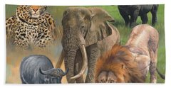 Africa's Big Five Beach Towel by David Stribbling