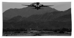 Alaska Airlines Palm Springs Takeoff Beach Towel by John Daly