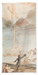 Allegory   Knowledge Versus Orthodox Religion Beach Sheet by Auguste Hervieu