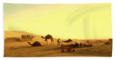An Arab Encampment  Beach Towel by Charles Theodore Frere