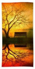 And I Will Wait For You Until The Sun Goes Down Beach Towel by Tara Turner