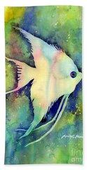 Angelfish I Beach Towel by Hailey E Herrera