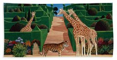 Animal Garden Beach Sheet by Anthony Southcombe