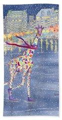 Annabelle On Ice Beach Sheet by Rhonda Leonard