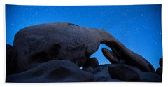 Arch Rock Starry Night 2 Beach Sheet by Stephen Stookey