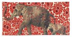 Asian Elephant-jp2185 Beach Sheet by Jean Plout