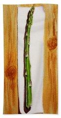 Asparagus Tasty Botanical Study Beach Towel by Irina Sztukowski