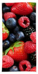 Assorted Fresh Berries Beach Towel by Elena Elisseeva