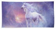 Astral Unicorn Beach Towel by Steve Read