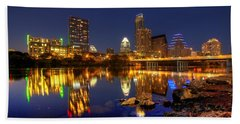 Austin On The Rocks Beach Towel by Dave Files