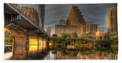 Austin Skyline Beach Towel by Jane Linders