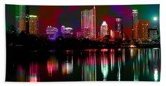 Austin Texas Skyline Beach Towel by Marvin Blaine