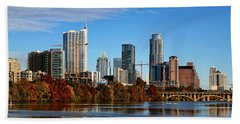 Autumn In Austin Beach Towel by Judy Vincent