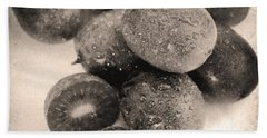 Baby Kiwi Distressed Sepia Beach Towel by Iris Richardson