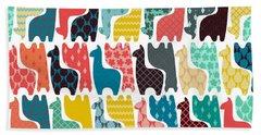 Baby Llamas Beach Towel by Sharon Turner