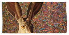 Background Noise Beach Towel by James W Johnson
