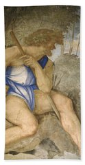 Baldassare Peruzzi 1481-1536. Italian Architect And Painter. Villa Farnesina. Polyphemus. Rome Beach Towel by Baldassarre Peruzzi