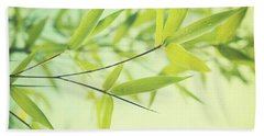 Bamboo In The Sun Beach Towel by Priska Wettstein
