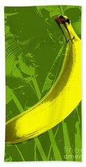 Banana Pop Art Beach Sheet by Jean luc Comperat
