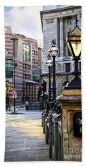 Bank Station In London Beach Sheet by Elena Elisseeva