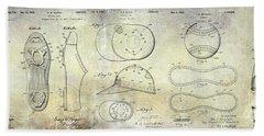 Baseball Patent Panoramic Beach Sheet by Jon Neidert