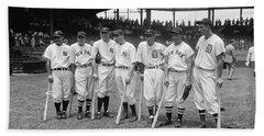 Baseball All Star Sluggers Beach Sheet by Underwood Archives