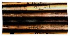 Baseball Bats Beach Sheet by Bill Cannon