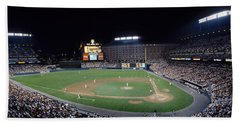 Baseball Game Camden Yards Baltimore Md Beach Towel by Panoramic Images