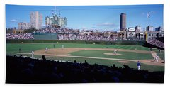 Baseball Match In Progress, Wrigley Beach Towel by Panoramic Images