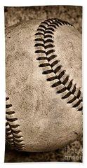 Baseball Old And Worn Beach Sheet by Paul Ward