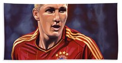 Bastian Schweinsteiger Beach Sheet by Paul Meijering