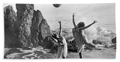 Beach Ball Dancing Beach Sheet by Underwood Archives