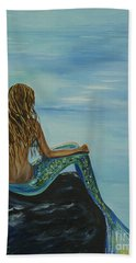Beautiful Magic Mermaid Beach Towel by Leslie Allen
