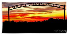 Beautiful Sunset And Emmett Sport Comples Beach Towel by Robert Bales